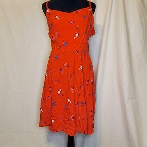 Old Navy V-Line Red Summer Plus Dress